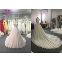 China A - Line Wedding Wear Dresses Strapless Appliques Princess Bridal Gown on sale