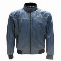 China Waterproof Cycling Jersey, with Soft Protector on Shoulder, Elbow and Back on sale