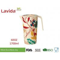 Quality Recycled Wearable Bamboo Water Jug Plastic Water Pitcher Customized Prints for sale