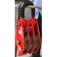 Quality Pulley block with hook/ring,Three-Sheave for sale
