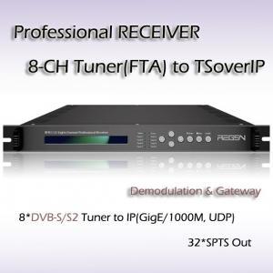 China RFR1132 Hotel TV DVB-S/S2 TO UDP/RTP IPTV Equipment 8*DVB-S/S2 Input 256*SPTS IP Streaming Output on sale