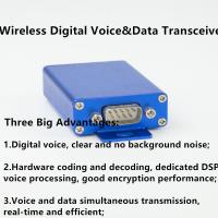 China 2W wireless digital audio transmitter&receiver with microphone 433mhz uhf 230mhz 150mhz vhf digital voice transceiver on sale
