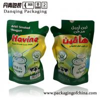 Quality Fresh Cow Milk Injection Liquid Pouch Plastic Packaging Bags Customized Size for sale