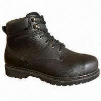 Quality Safety Boots with Steel Toe/Plate Protection and Black Brazil PU Collar for sale