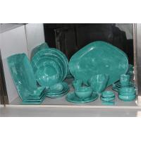 Quality Melamine tableware sets green dinnerware plate dish for sale