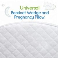 Quality Waterproof Memory Foam Wedge Pillow Cotton Cover For Baby Bassinet White Color for sale
