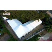 Quality 500 People Aluminum Frame Luxury Wedding Party Tent With Glass Walls Lining Curtain for sale