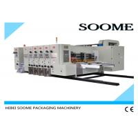 Buy 4 Colors Flexo Printer Slotter Die Cutter Rotary Water Based Printing With at wholesale prices