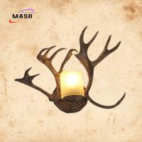 Quality Maso MS-W2008 Antler Art Design Wall Sconce Lamp Retro Style for Villa Hotel Cloth Shop Decoration CCT2300k LED Bulb for sale