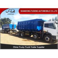 China Tipper Draw Bar Trailer  For Agricultural Goods , Dumping TrailersWith Tow Bar on sale
