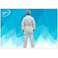 Quality Fully CPE Film Breathable Disposable Coverall Suit / Disposable Plastic Body Suit for sale