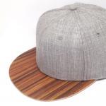 Quality Blank Wool Body Mens Plain Black Baseball Cap Wooden Brim Flat Curved Visor Type for sale