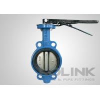 China Wafer Butterfly Valve Cast Iron Body Resilient Seated Class150 PN16 AS2129 SANS1123 on sale