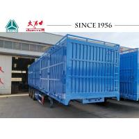 China Grain Trailer Van Closed Box Trailer With Side Tipping For Wheat Transport on sale