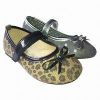 Quality Children's fashion satin shoes/kids shoes, fabric lining, in various colors, designs and styles for sale