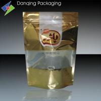 Quality Biscuit Packaging Aluminium Foil Bag With Clear Window    Stand Up Pouch With Zipper for sale