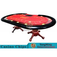 Quality Tiger Legs Poker Game TableWith European Style Groove Design In Mesa Runway for sale