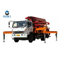Quality 13.58 Weight Truck Mounted Boom Pump / Concrete Boom Pump Truck 66 KW Diesel Power for sale