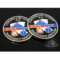 Quality Craft Die Cast Brass Challenge Coin , Small 3D Challenge Coins With Epoxy for sale