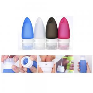 Quality Silicone Portable Liquid soap dispenser bottle with hole design / Shampoo dispenser bottle for sale