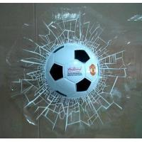 Quality Shatter Soccer Ball Window Decal for sale