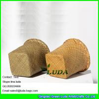 Buy LUDA kids art storage box natural seagrass straw beach towl basket at wholesale prices