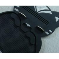 Quality Black Plastic Coin Tray Non Slip Soft PVC Cash Tray For Restaurant for sale
