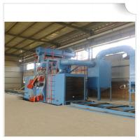 Quality Steel structure H beam shot blasting machine / Roller Conveyor Sand Blasting Machine for sale