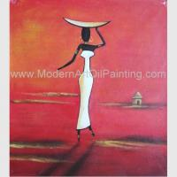China Abstract Modern Oil Paintings , Handmade African Women Canvas Painting Acrylic on sale