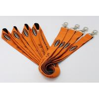"""Quality 5/8"""" Custom flat polyester lanyards silkscreen printed with lobster claw attachment for sale"""