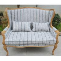 Antique provincial style living room sofa fabric oak wood sofa
