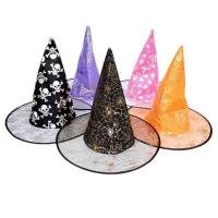 Quality 38*35cm Childrens Halloween Decorations Custom Halloween Party Witch Hats for sale