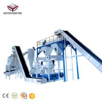 China Rotex1-1.5t/h Professional Supply Wood Pellet Production Line on sale