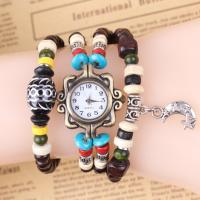 Quality Handmade Bracelet Watches For Women With Moon Pendant , Party Beaded Jewelry Bracelets for sale