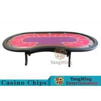 Quality 10 Seats Casino Poker Table With environmentally friendly PU leather armrest for sale