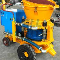 Quality 3m3 Per Hour Refractories Cement Spray Machine , 4KW Small Concrete Pump for sale