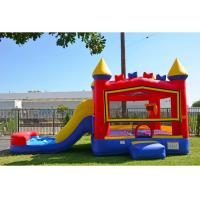 Quality Attractive Inflatable Bouncy Castle With Slide With Printing For Kids for sale