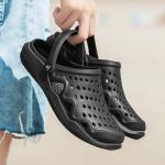 Quality Summer Black Mens Slip On Mule Slippers Quick Drying Mesh Slip Resistant for sale