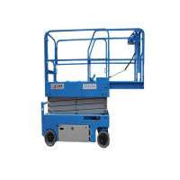 Quality Narrow Body Anti Clamping  Electric Scissor Lift 6m-14m With Emergency Lowering Valve for sale