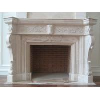 White Decoration Wood Stove Insert, Marble Fireplace