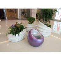 Quality Glossy White Fiberglass Flower Pot New Design Top Grade Fiberglass Material for sale