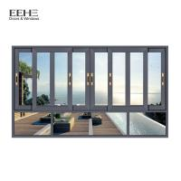 China Powder Coated Aluminum Sliding Glass Windows For Construction Buildings on sale