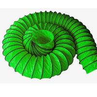 Quality Green Waterproof Flexible Coated PVC Ventilation Duct for underground project for sale