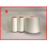 China High Strength Ring Spun Polyester Twisted Yarn Raw White Or Dope Dyed Color on sale