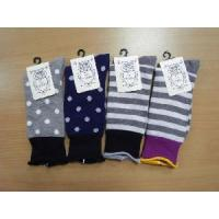 China Ladies Nature Rib Socks (Dots&Strips&Flower) on sale