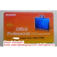 Quality (200pcs/lot) Office 2010 professional Lenovo key card PKC with genuine FPP key for sale