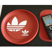 Quality Red round plastic coin tray Eco Friendly PVC loose coin tray With logo for sale