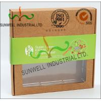 Quality Rigid Kraft Paper Cardboard Food Packaging Boxes With Art Paper Wraped Finished for sale