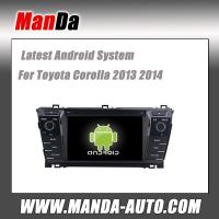 Quality Android 4.4 car radio for Toyota Corolla 2013 2014 wifi 3g indash head unit car audio player gps navigation auto parts for sale