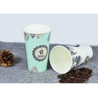 Branded Single Wall Paper Cups With Plastic Lids And Straws , Eco Friendly